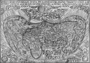 Tipus Orbis Universalis, por Petrus Apianus, 1520