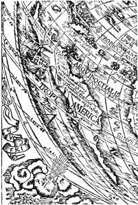 Tipus Orbis Universales, por Petrus Apianus, 1520; detalle: América
