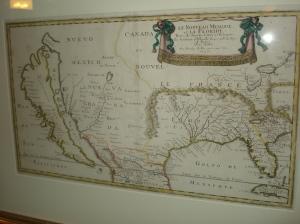 """Mapa de Nicolas Sanson titulado """"Le Nouveau Mexique et la Floride"""", 1656"""