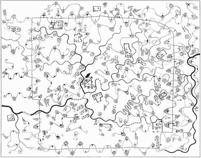 Mapa militar de Mawangdui (reconstruido) HoC Fig3.11