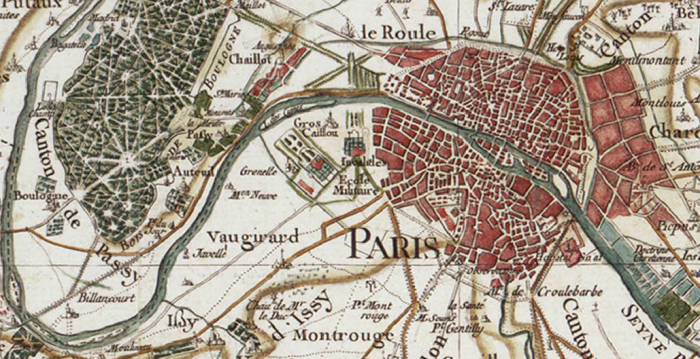 París y su periferia occidental, hasta Issy y el Bois de Boulogne.