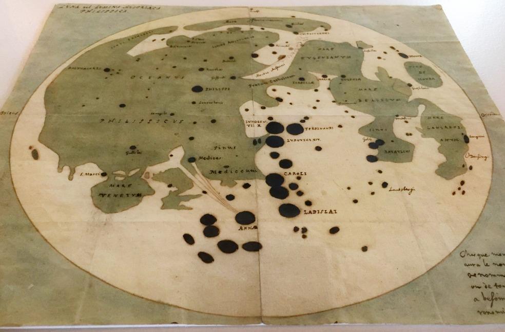 Mapa de la Luna. Michael van Langren. 1644 o 1645.